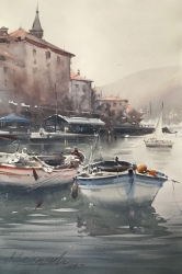 dusan-djukaric-one-day-in-perast-watercolor-36x55-cm