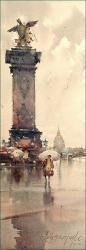 dusan-djukaric-rain-paris-watercolor-19x55-cm-gallery