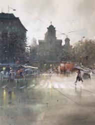 dusan-djukaric-st-marko-square-belgrade-watercolor-84x111-cm