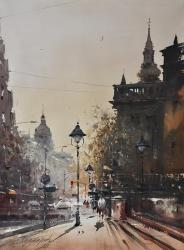 dusan-djukaric-street-of-king-peter-watercolour-74x54cm