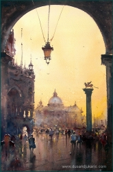 dusan-djukaric-sunset-in-venice-watercolor-27x54-cm-gallery