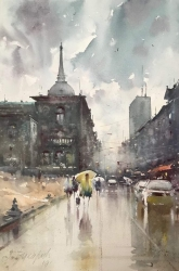 dusan-djukaric-the-scent-of-rain-watercolor-36x55-cm