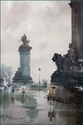 dusan-djukaric-the-smell-of-rain-in-paris-watercolor-36x55-cm