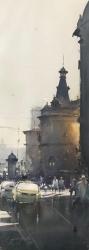 dusan-djukaric-view-from-masrikova-street-watercolor-26x74-cm