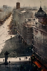 dusan-djukaric-view-from-skyterrace-watercolor-36x54-cm