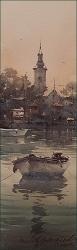 dusan-djukaric-view-from-the-danube-watercolor-17x55-cm