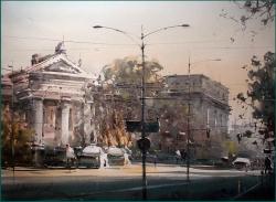 dusan-djukaric-view-trought-boulevard-watercolor-54x74-cm-gallery