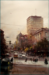 dusan-djukaric-view-trought-nemanjas-street-watercolor-35x56-cm-gallery