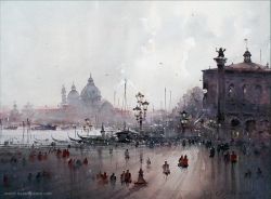 dusan-djukaric-walk-through-venice-watercolor-56x73-cm
