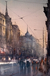 dusan-djukaric-watercolor-belgrade-38x56-cm