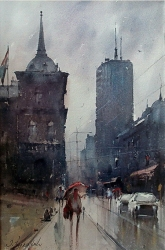 dusan-djukaric-watercolor-beogradjanka-38x56-cm