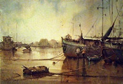 dusan-djukaric-watercolor-dropped-anchor-2-38x56-cm
