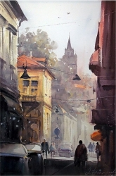 dusan-djukaric-watercolor-morning-in-zemun-38x56-cm_0