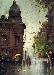 dusan-djukaric-watercolor-obilicev-venac-28x38-cm