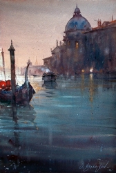 dusan-djukaric-watercolor-santa-maria-della-salute-38x56-cm
