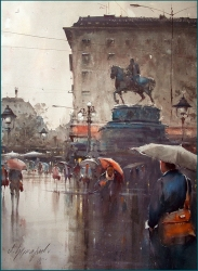 dusan-djukaric-watercolor-the-blueness-of-the-rainy-day-54x74-cm