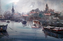 dusan-djukaric-watercolor-zemun-38x56-cm