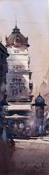 dusan-djukaricnoon-at-the-russian-emperor-watercolor-145x51-cm
