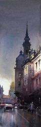 watercolor-dusan-djukaric-after-the-rain-19x56-cm