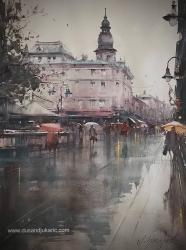 dusan-djukaric-after-rain-in-sarajevo-watercoor-74x54-cm