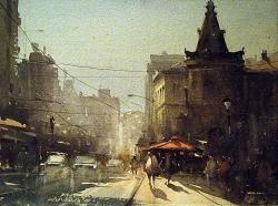 dusan-djukaric-akvarel-leto-u-beogradu-28x38-cm