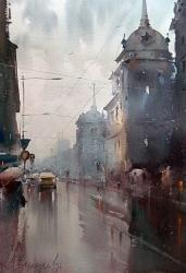 dusan-djukaric-belgrades-rains-38x54-cm-watercolor-38x54-cm