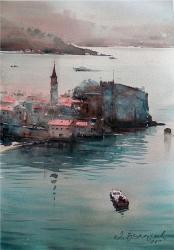 dusan-djukaric-budva-watercolor-54x36-cm