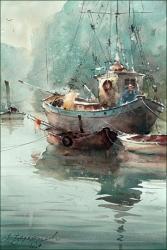 dusan-djukaric-dusan-djukaric-watercolor-on-the-river-watercolor-36x54-cm