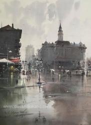 dusan-djukaric-trg-slobode-novi-sad-akvarel-74x54-cm