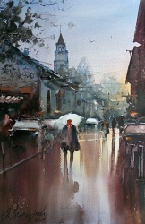 dusan-djukaric-after-rain-gardos-watercolor-36x54-cm