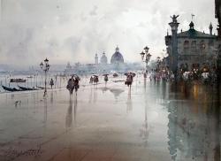 dusan-djukaric-after-rain-in-venice-watercolor-54x74-cm