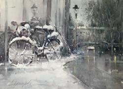 dusan-djukaric-bicycle-watercolor-74x54-cm
