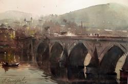 dusan-djukaric-bridge-on-the-drinawatercolor-36x54-cm