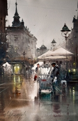dusan-djukaric-chestnut-seller-on-the-end-of-knez-watercolor-36x55-cm-gallery