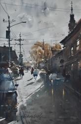 dusan-djukaric-church-of-st-nikola-zemun-watercolor-36x55-cm