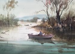 dusan-djukaric-fishermen-watercolor-74x54-cm