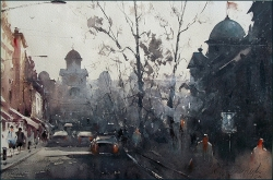 dusan-djukaric-kosovska-street-view-on-church-of-st-mark-watercolor-35x53-cm-gallery