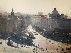 dusan-djukaric-stories-from-resavska-street-watercolor-111x85-cm