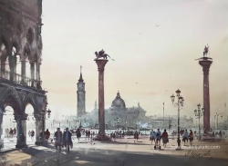 dusan-djukaric-stories-from-venice-watercolor-74x54-cm