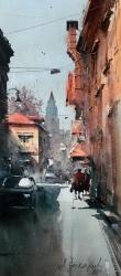 dusan-djukaric-view-on-gardos-watercolor-24x54-cm