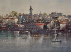 dusan-djukaric-waking-of-savamala-watercolour-74x54cm