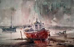 dusan-djukaric-watercolor-after-rain-38x56-cm