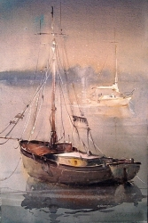 dusan-djukaric-watercolor-aquatic-mirror-2-38x56-cm