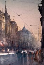 dusan-djukaric-watercolor-belgrade-38x56-cm