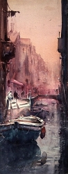 dusan-djukaric-watercolor-canal-in-venice-19x48-cm