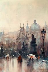 dusan-djukaric-watercolor-charles-bridge-prague-36x54-cm