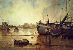dusan-djukaric-watercolor-dropped-anchor-2-38x56-cm