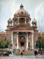 dusan-djukaric-watercolor-parliament