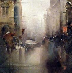 dusan-djukaric-watercolor-rainy-day-46x48-cm